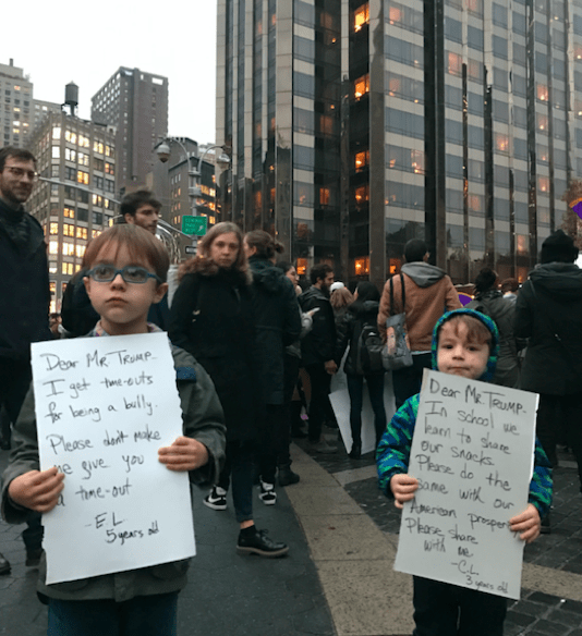 Pic of kids protesting the stupidity of politicians